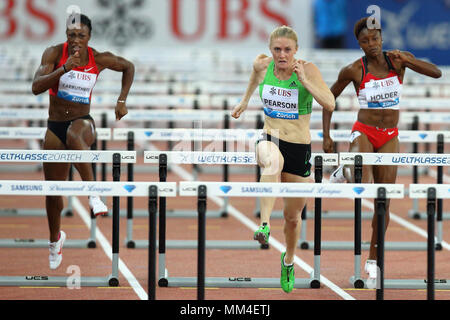 Zurich, Switzerland. 08th, Sep 2011. ( L-R) Danielle Carruthers of the United States of America, Australian's Sally Person and Nikkita Holder from USA - Stock Image
