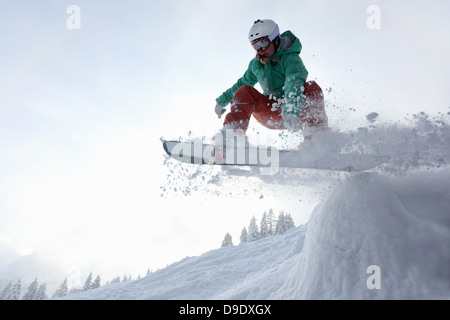 Snowboarder, Fellhorn, Germany - Stock Image