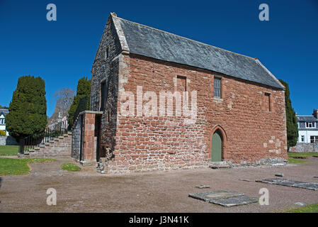 The Red sandstone ruins of Fortrose Cathedral, located on the Black Isle, on the Moray Firth. Highland Region. Scotland. - Stock Image