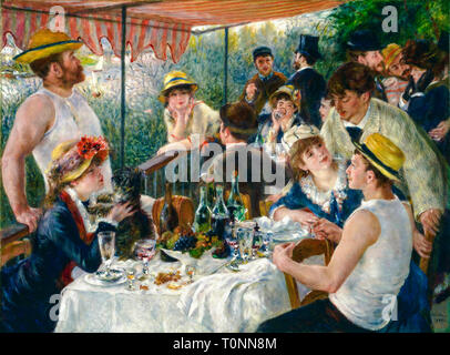 Pierre Auguste Renoir, Luncheon of the Boating Party, painting, c. 1880 until 1881 - Stock Image