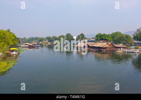Mae Nam Khwae Yai, Kwai river, Kanchanaburi, Thailand - Stock Image