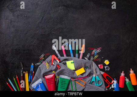 Stationery office school college accessories supplies. Back to school - Stock Image