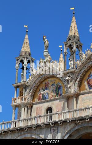 Saint Mark's Basilica, Venice, Italy - Stock Image