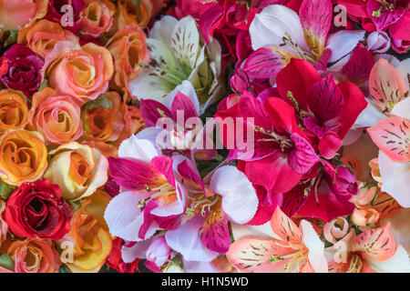 Silk Flowers , Old City Center Nice, Vieille Nice, Alpes Maritimes, Provence, French Riviera, Mediterranean, France, - Stock Image
