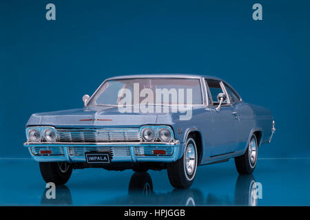 1965 Chevrolet Impala SS 396 Welly diecast model car. - Stock Image