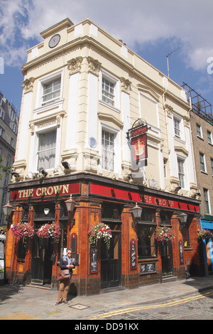 The Crown Pub Monmouth Street Covent Garden London - Stock Image