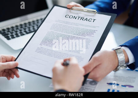 Contract for signing - Stock Image
