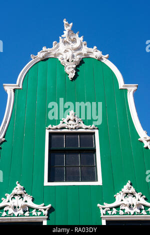 Detail of a traditional Dutch building at the Open Air Museum in Arnhem, the Netherlands - Stock Image