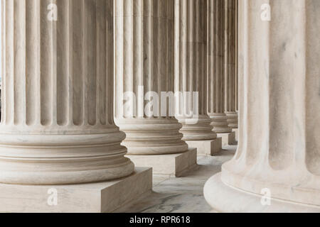 Columns of the Supreme Court - Stock Image