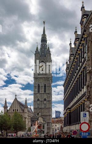 Belfry Ghent Belgium - Stock Image