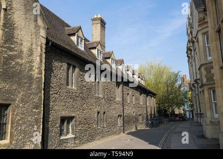 Corpus Christi College looking North from Free School Lane Cambridge England 2019 - Stock Image