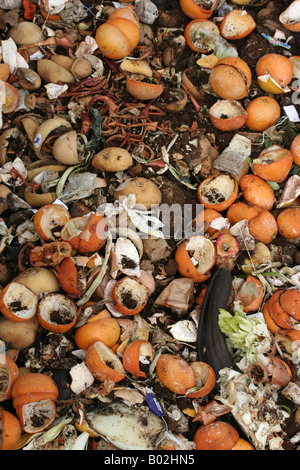 Wide vertical shot of a compost heap. - Stock Image