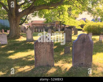 Old cemetery in Wolfville Nova Scotia - Stock Image
