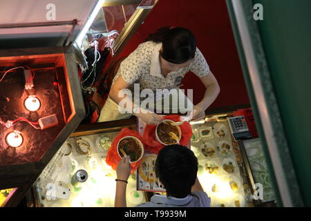hawker centre, Singapore, Chinatown Food Centre, Southeast Asian cuisine - Stock Image