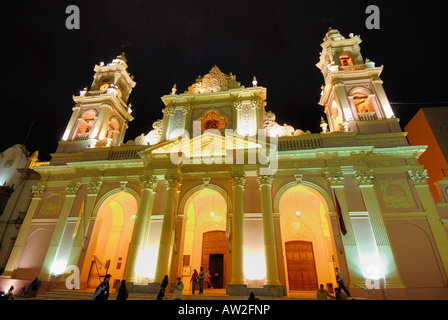 Cathedral of Salta, Salta, Province of Salta, Argentina, South America - Stock Image