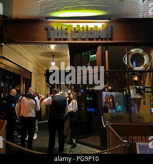 The Cuban,Nightclub,Disco,Doorman,Bouncer,Security,High Street,Canterbury,Kent,England - Stock Image