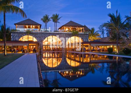Resort Moevenpick at twilight south coast of Mauritius Africa - Stock Image