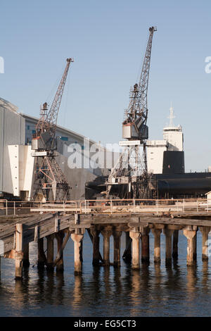 Historic dockside cranes at Fremantle, Western Australia - Stock Image