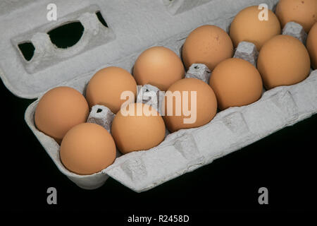 Crate of eggs. - Stock Image