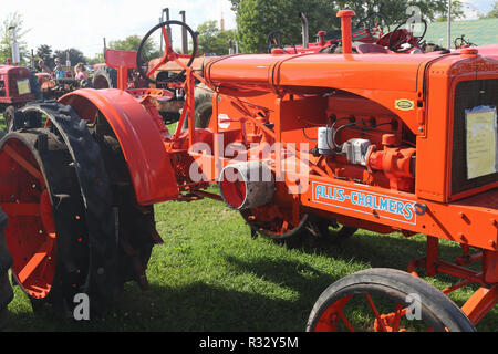 Tractor- 1936 Allis Chalmers Model WC. Canfield Fair. Mahoning County Fair. Canfield, Youngstown, Ohio, USA. - Stock Image