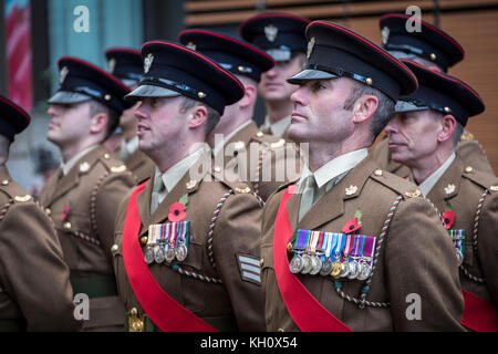 Wolverhampton, West Midlands Sunday 12th November 2017 Members of the armed forces take part in Remembrance Sunday - Stock Image