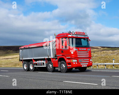Whitewell Logistics Limited HGV. M6 Motorway, Southbound, Shap, Cumbria, England, United Kingdom, Europe. - Stock Image