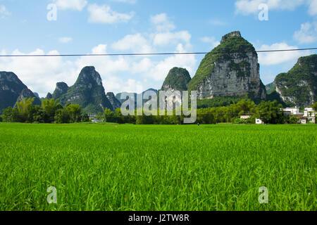 Karst landscape in Quangxi - Stock Image