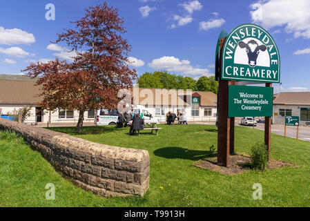 Wenslydale Creamery cheese factory Hawes. Yorkshire Dales. - Stock Image