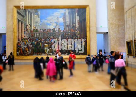 Louvre museum, Paris, France. - Stock Image