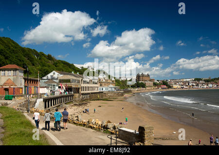 UK, England, Yorkshire, Scarborough, South Sands at The Spa - Stock Image
