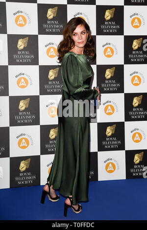 LONDON, UK. March 19, 2019: Anna Friel arriving for the Royal Television Society Awards 2019 at the Grosvenor House Hotel, London. Picture: Steve Vas/Featureflash Credit: Paul Smith/Alamy Live News - Stock Image