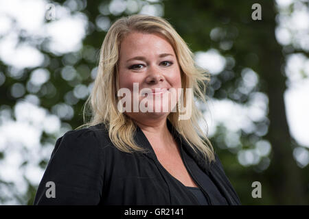 English author of historical fiction Robyn Young. - Stock Image