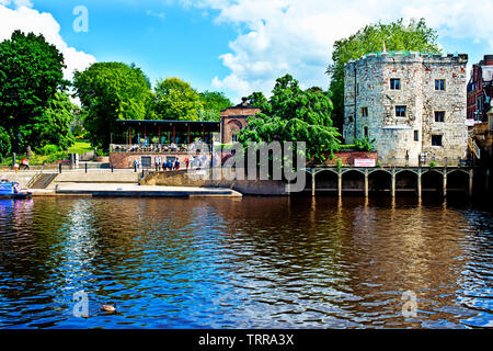 River Ouse and Lendal Tower, York, England - Stock Image