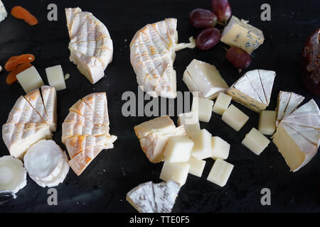 canadian cheese including cantonnier, cendrillon, le triple creme, saint raymond, sir laurier - Stock Image