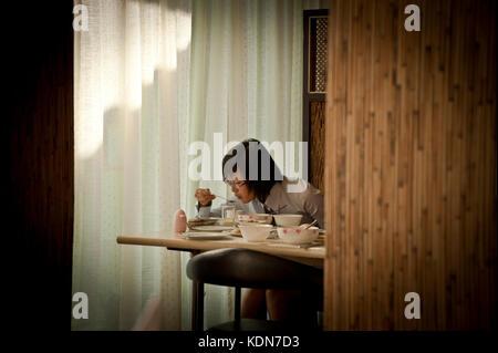Coréenne au petit déjeuner dans un hôtel à Wonsan le le 11 octobre 2012. Korean breakfast at - Stock Image