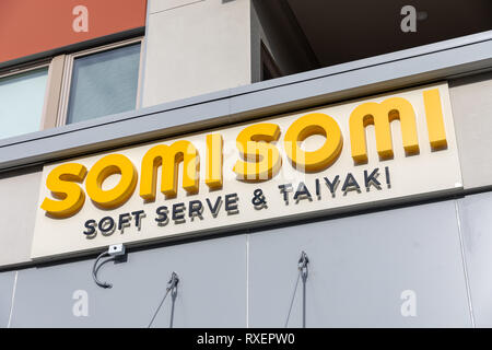 SomiSomi Soft Serve & Taiyaki, Cupertino, California, USA - Stock Image