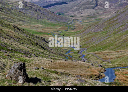 Morng Light at Wrynose Pass - Stock Image