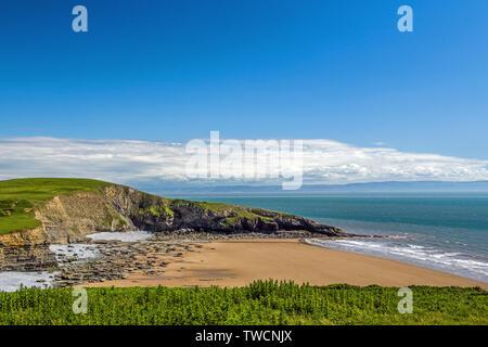 Dunraven Bay Southerndown Glamorgan Heritage Coast South Wales - Stock Image