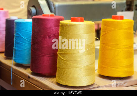 equipment for sewing in the factory - Stock Image