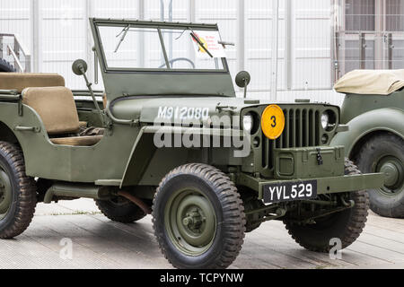 A vintage world war two jeep - Stock Image