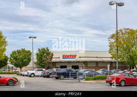 Costco Wholesale retail warehouse store exterior, corporate sign and logo  in Montgomery Alabama, USA. - Stock Image
