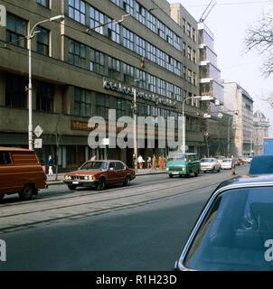 The Czechoslovak Radio Building on Vinohradska Street in Prague, Czechoslovakia, April, 1983. (CTK Photo/Pavel Khol) - Stock Image
