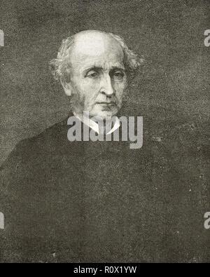 John Stuart Mill, J. S. Mill, British philosopher, MP, political economist and civil servant - Stock Image