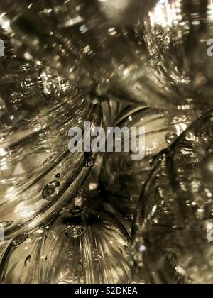 Closeup of Christmas baubles - Stock Image