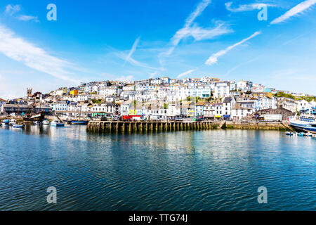 Brixham Town Devon, Brixham Town, Brixham harbour, Brixham, Devon, UK, England, United Kingdom, Brixham Devon, Brixham, town, towns, harbour, GB - Stock Image