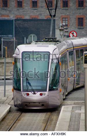 Dublin's luas tram system - Stock Image