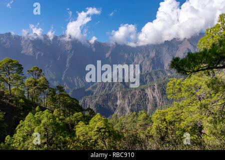 Mirador de la Cumbrecita, part of the national park containing the volcanic crater in La Palma, Canary Islands, Spain - Stock Image
