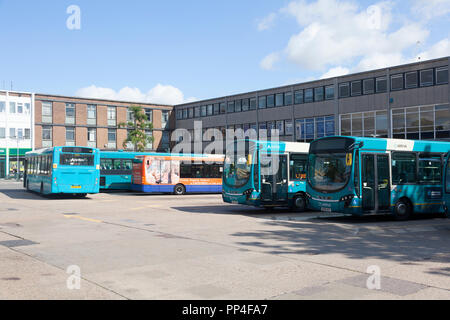 Bus station, Stevenage, Hertforshire - Stock Image