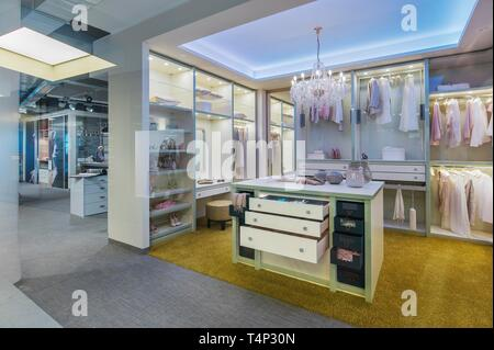 Luxurious shop in the Passage in the Luitpoldblock, Munich, Upper Bavaria, Bavaria, Germany - Stock Image