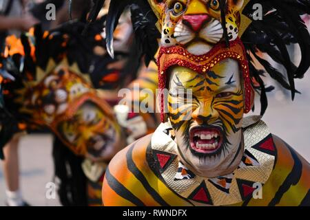 Dancers of the Carnaval troupe Selva Africana - Stock Image
